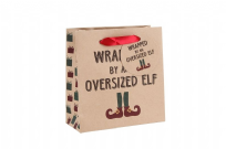 Wrapped By An Oversized Elf Small Gift Bag - 15cm